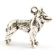 Husky Dog 3D Sterling Silver Charm